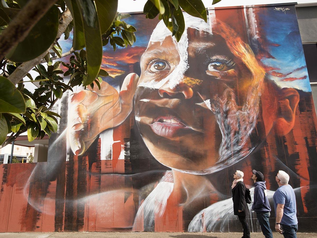 Aboriginal Culture Street Art in Toowoomba