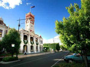 City Hall in Toowoomba CBD