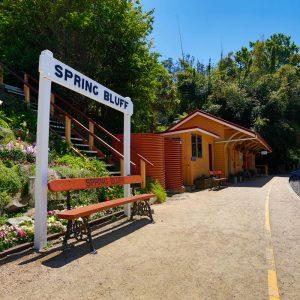Spring Bluff historical railway station