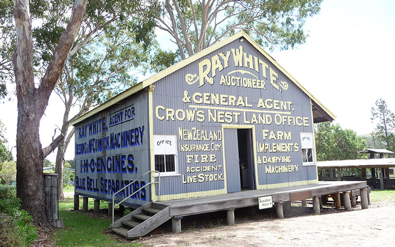 The first Ray White office in Crows Nest Museum and Historical Village